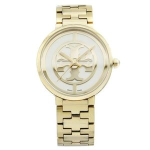 Tory Burch Gold Ion Plated Steel Reva Quarts Watch